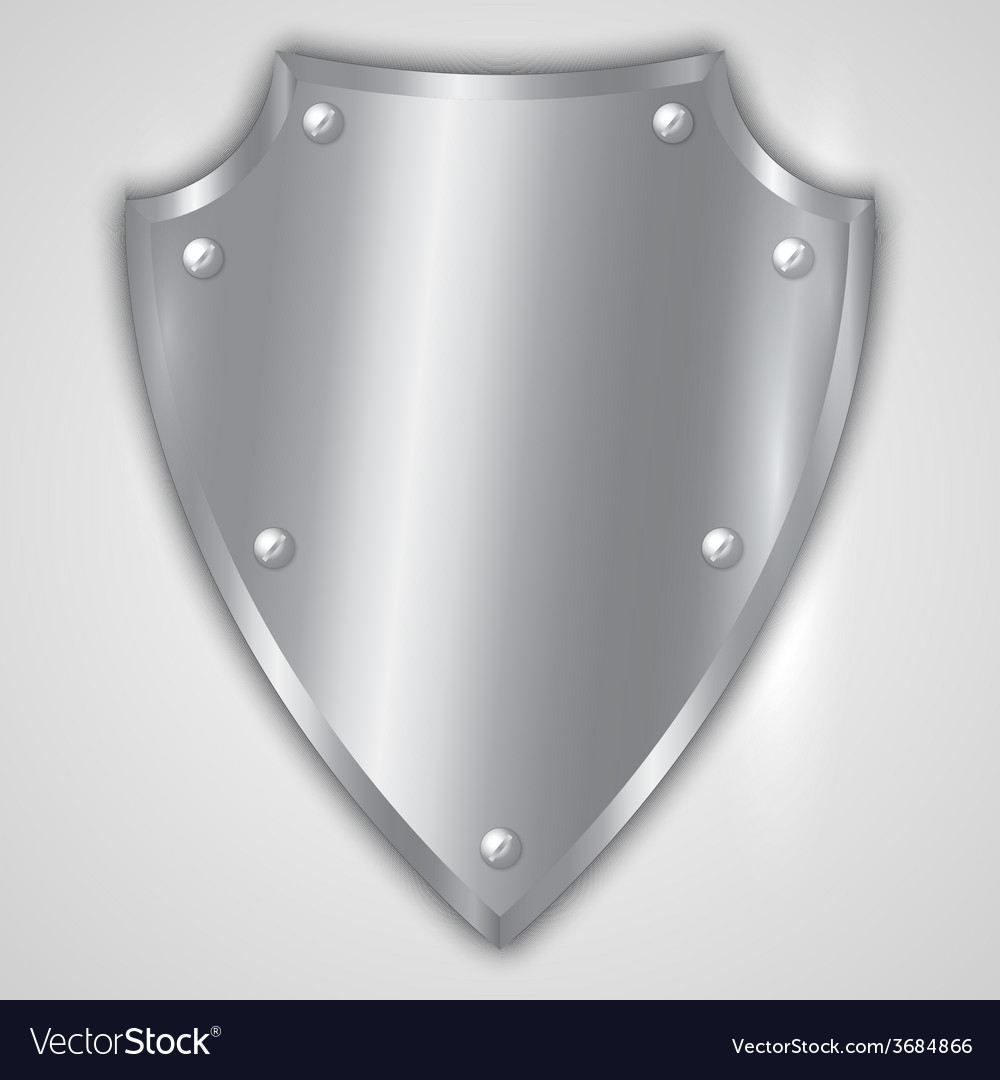 Abstract of stainless steel shield vector | Price: 1 Credit (USD $1)