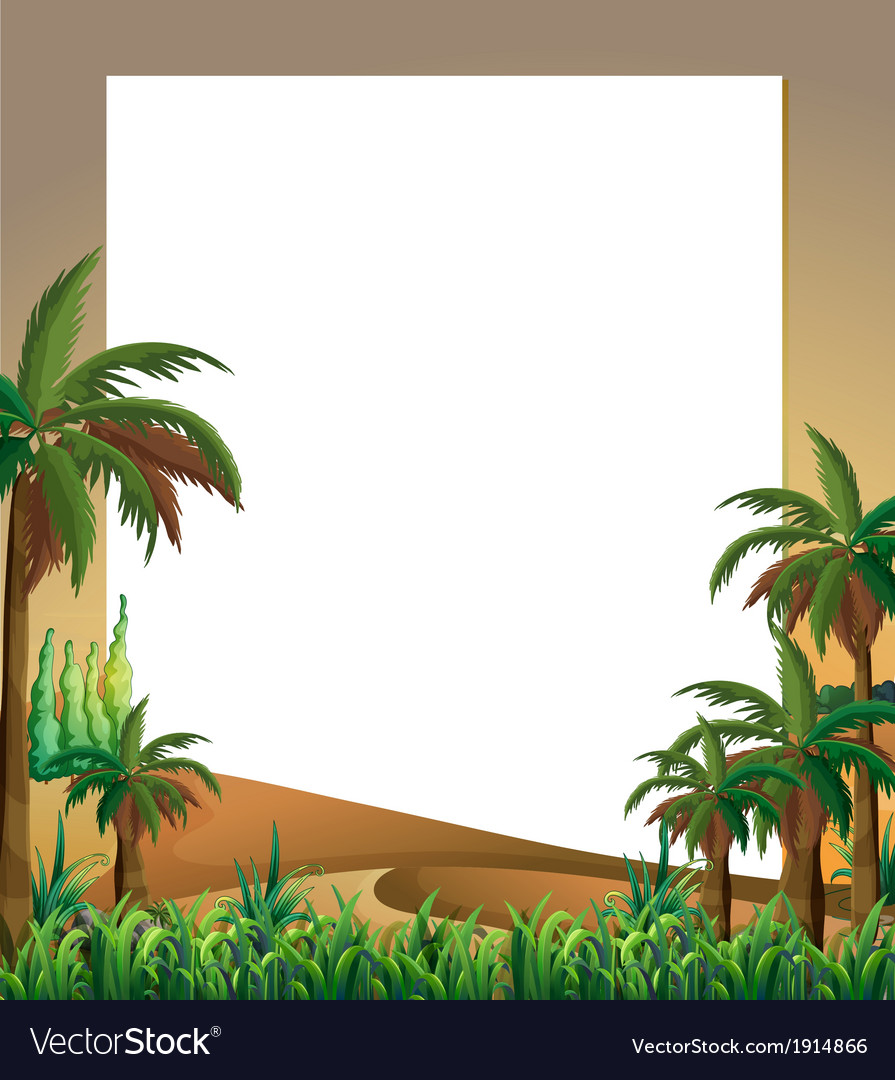 An empty template with a dessert and plants at the vector | Price: 1 Credit (USD $1)