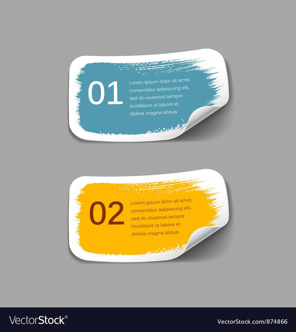 Colorful label paper brush stroke vector   Price: 1 Credit (USD $1)