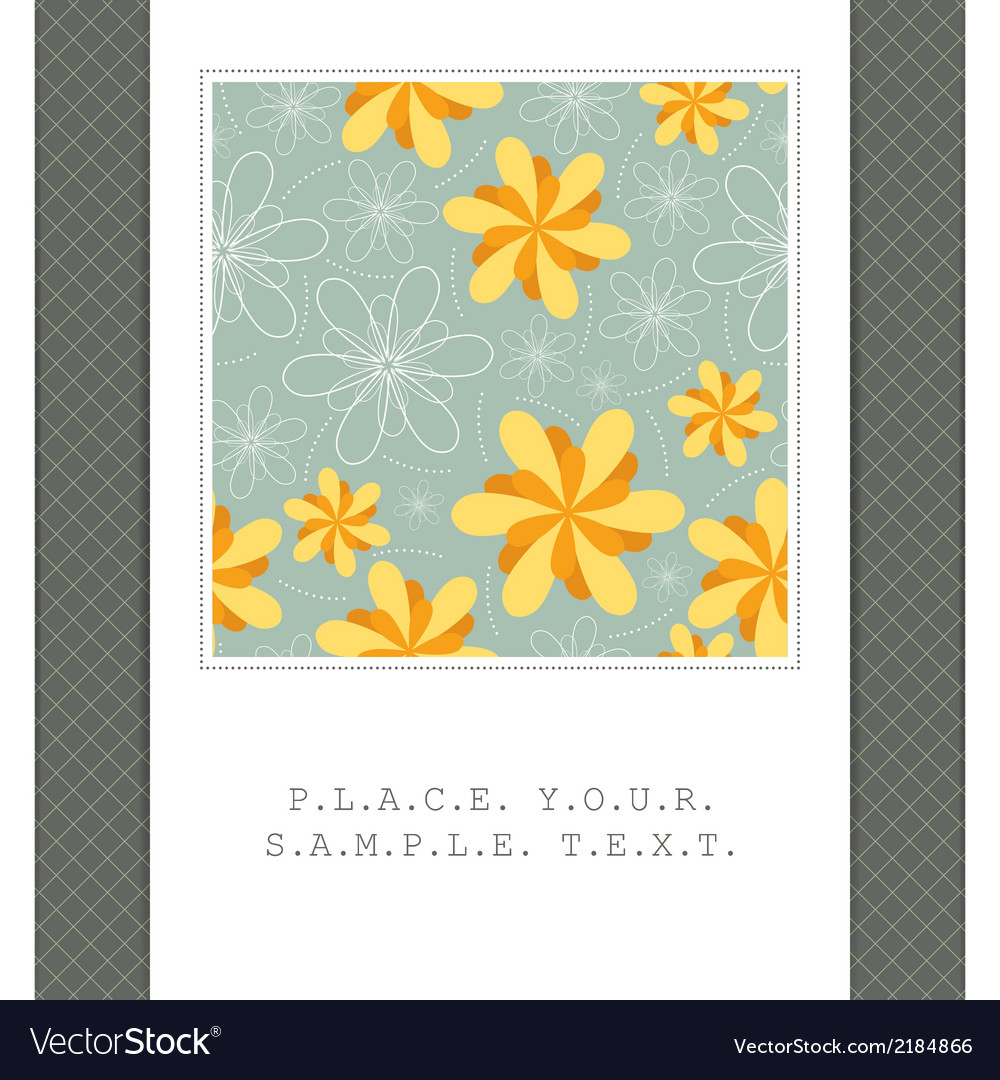 Floral card vector   Price: 1 Credit (USD $1)