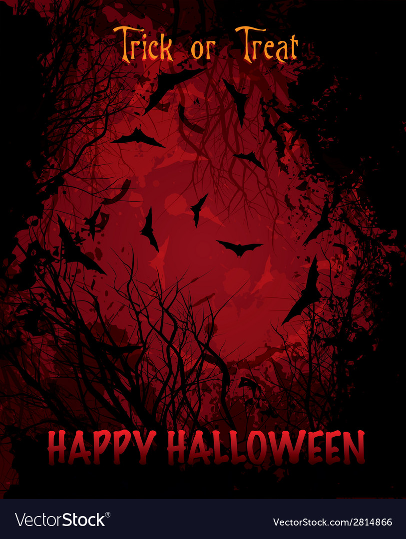 Halloween night red background vector | Price: 1 Credit (USD $1)