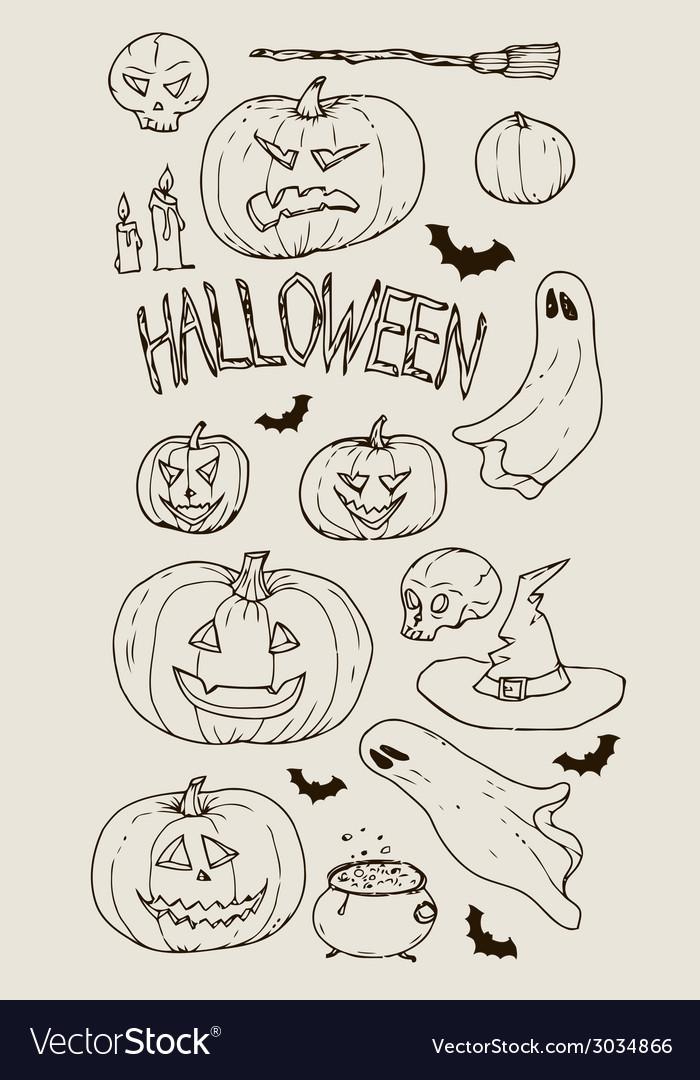 Halloween set vector | Price: 1 Credit (USD $1)