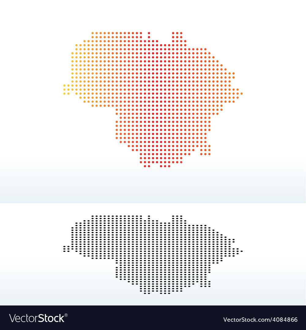 Map of lithuania with dot pattern vector | Price: 1 Credit (USD $1)