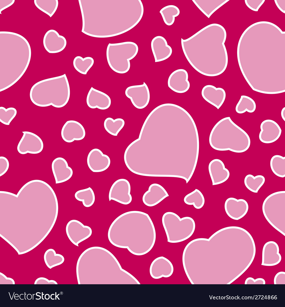Pink valentines day background seamless pattern vector | Price: 1 Credit (USD $1)