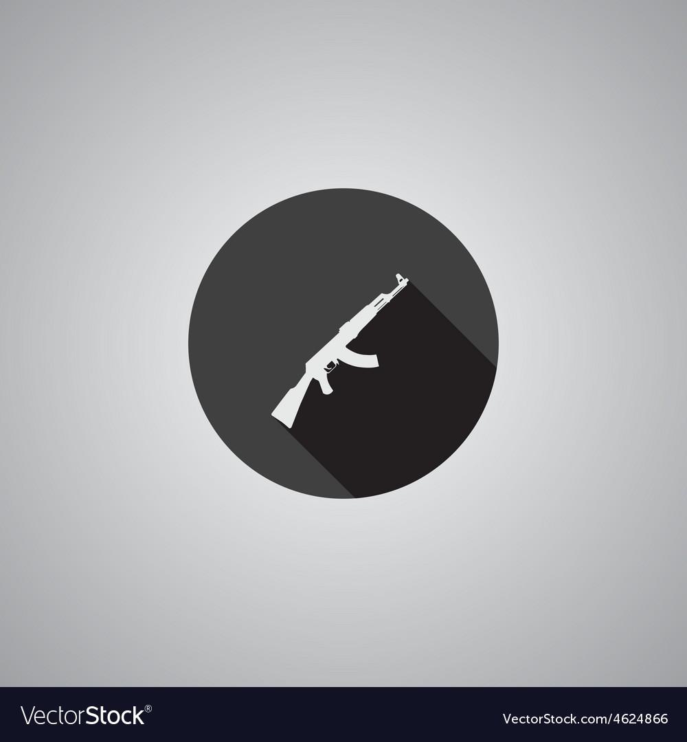 Rifle symbol flat vector   Price: 1 Credit (USD $1)