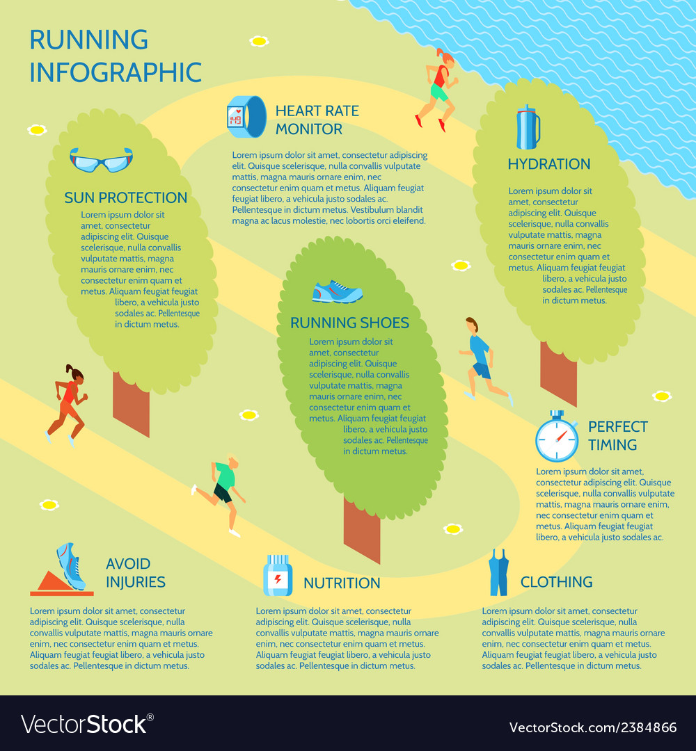 Running park infographic vector | Price: 1 Credit (USD $1)