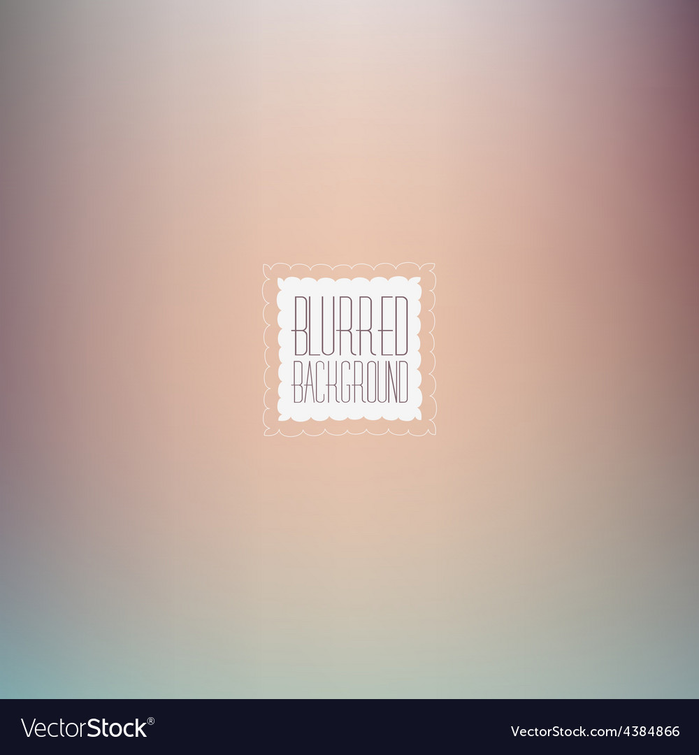 Smooth abstract colorful blurred background vector | Price: 1 Credit (USD $1)