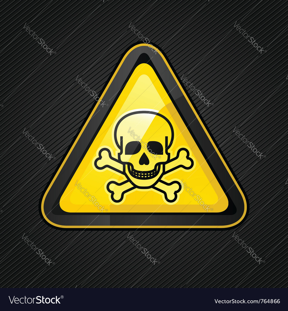 Toxic warning sign vector | Price: 1 Credit (USD $1)