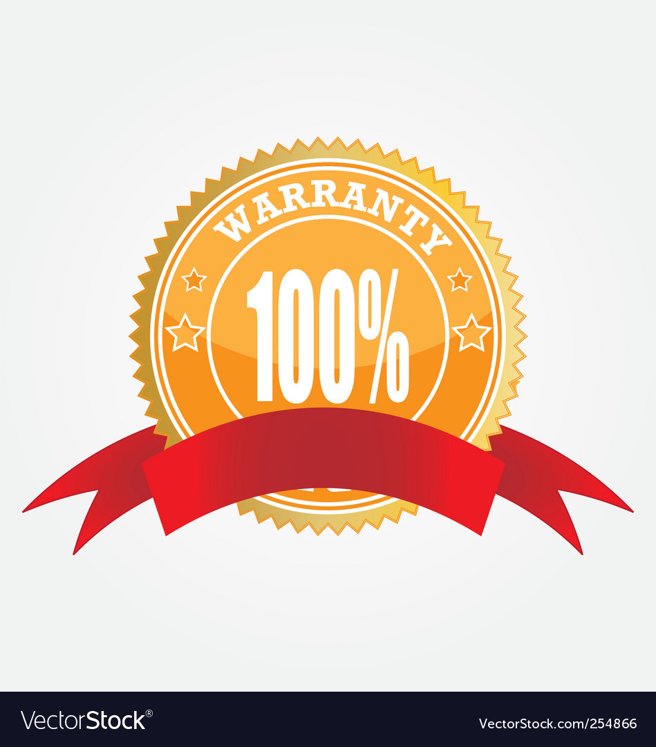 Warranty sticker vector | Price: 1 Credit (USD $1)