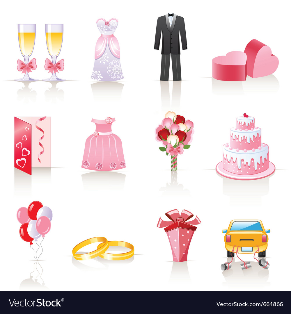 Wedding icons vector | Price: 3 Credit (USD $3)