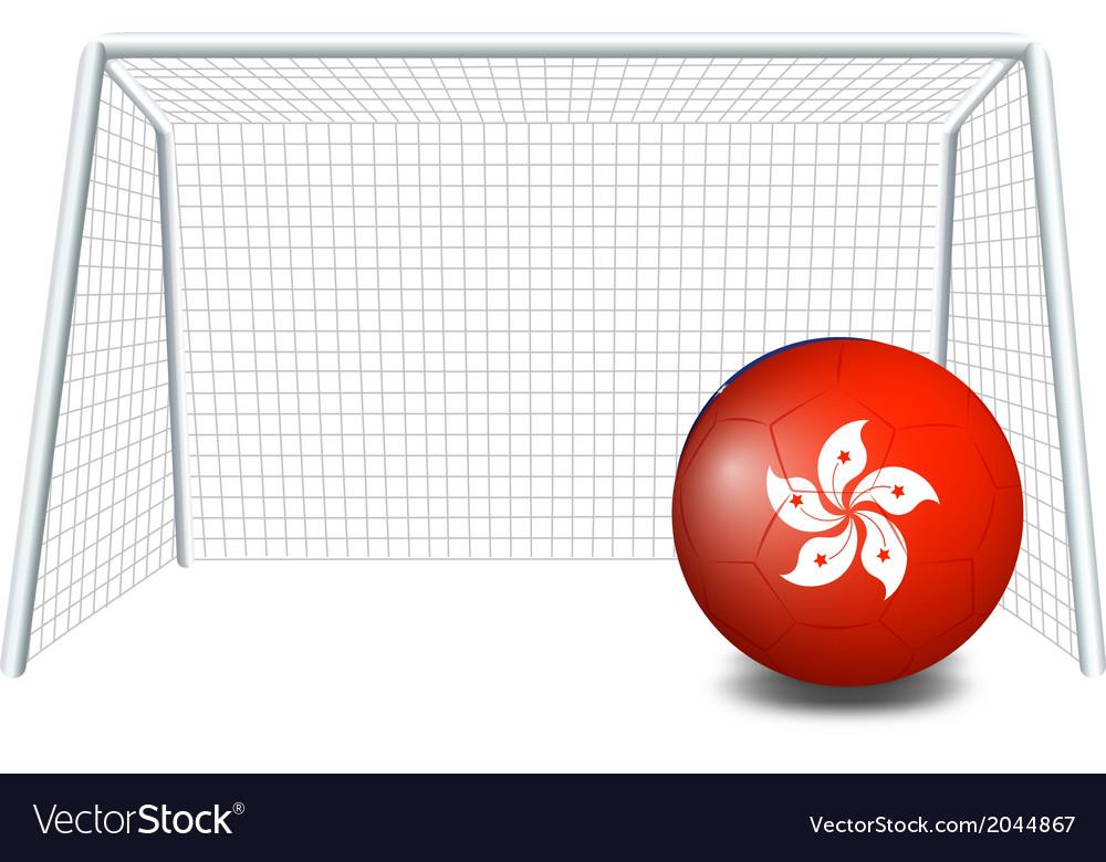 A soccer ball with the hongkong flag vector | Price: 1 Credit (USD $1)