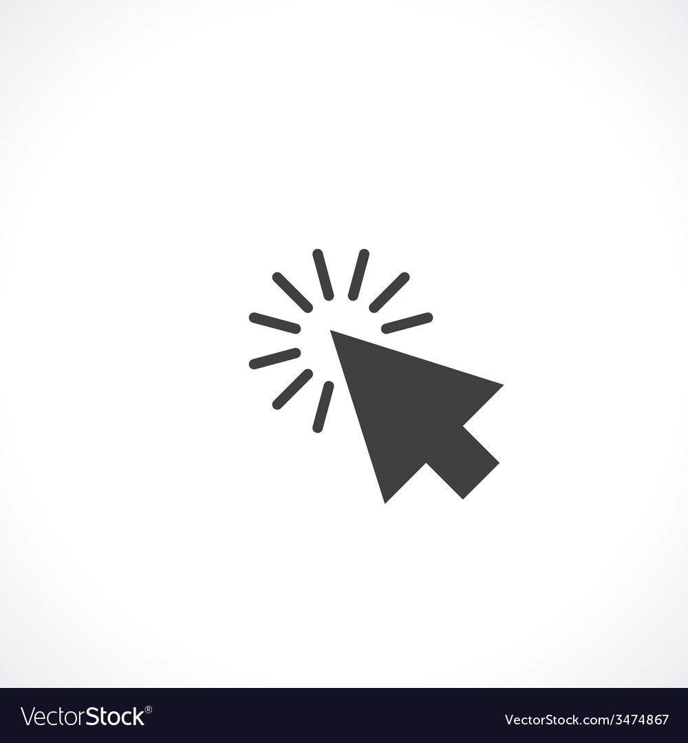 Arrow click vector | Price: 1 Credit (USD $1)