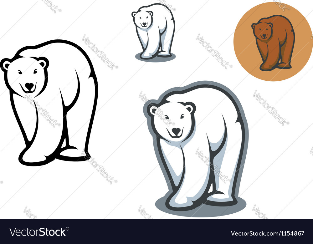 Bear mascots vector | Price: 1 Credit (USD $1)
