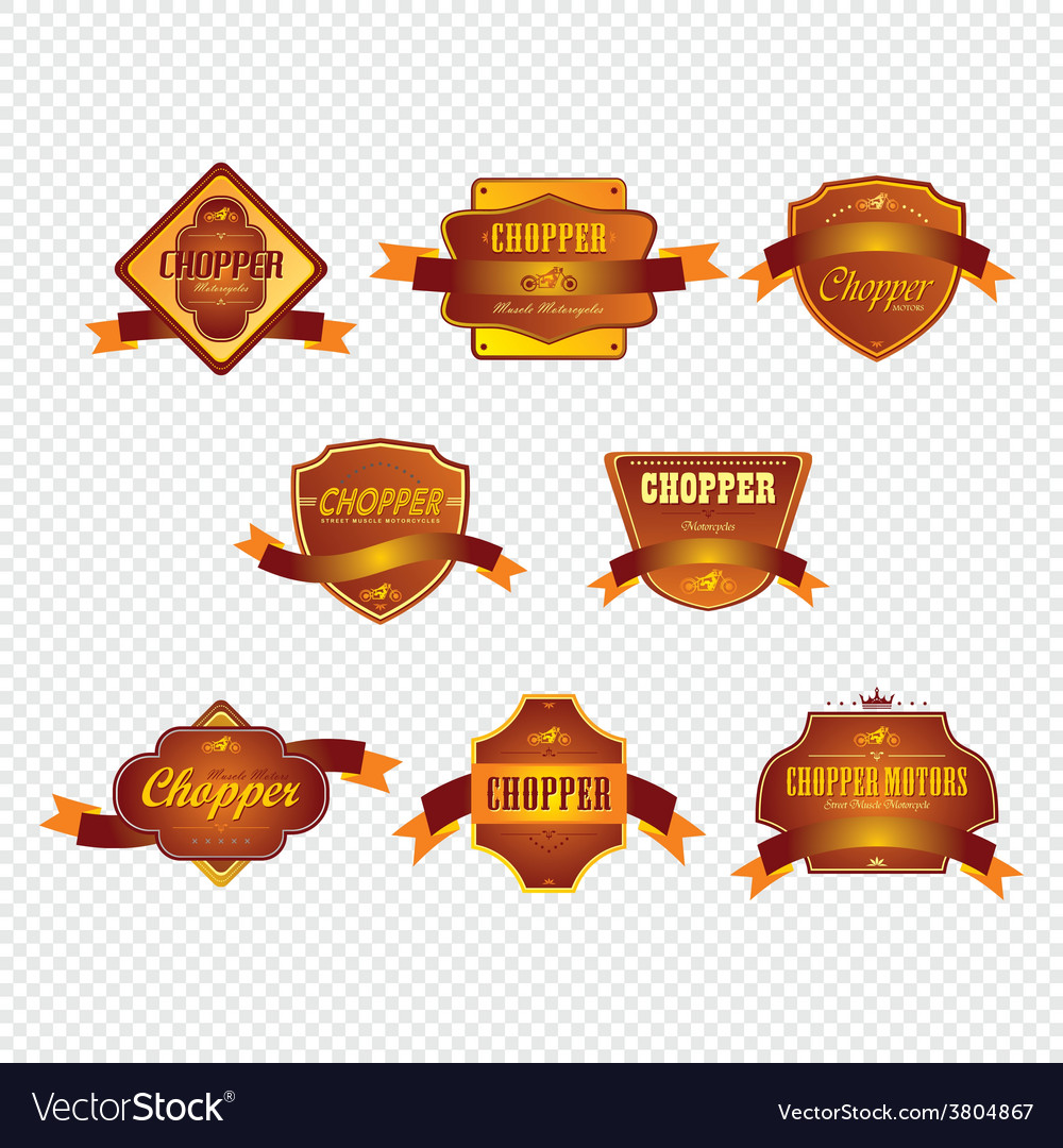 Chopper motorcycle label sticker vector | Price: 1 Credit (USD $1)