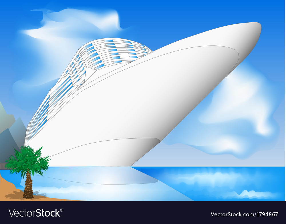 Cruise ship vector | Price: 3 Credit (USD $3)
