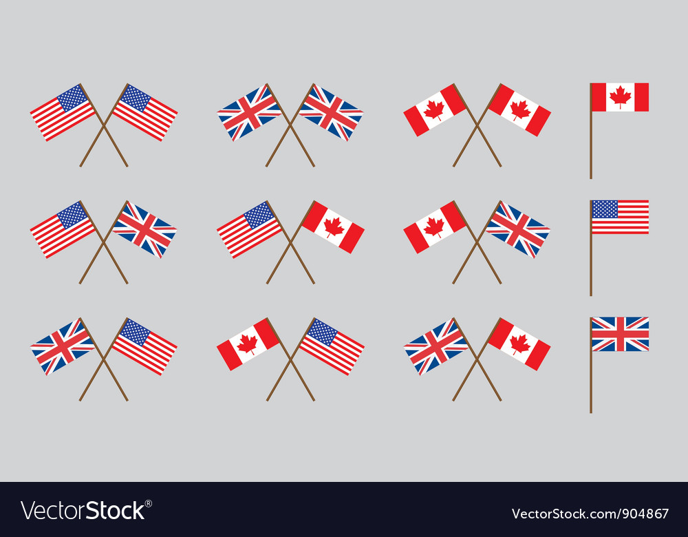 Friendship flags vector | Price: 1 Credit (USD $1)