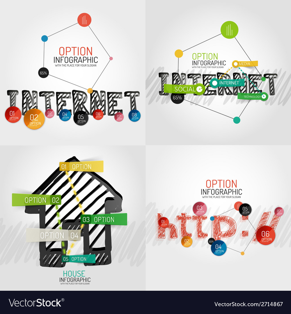 Hand drawn internet concepts and stickers vector | Price: 1 Credit (USD $1)