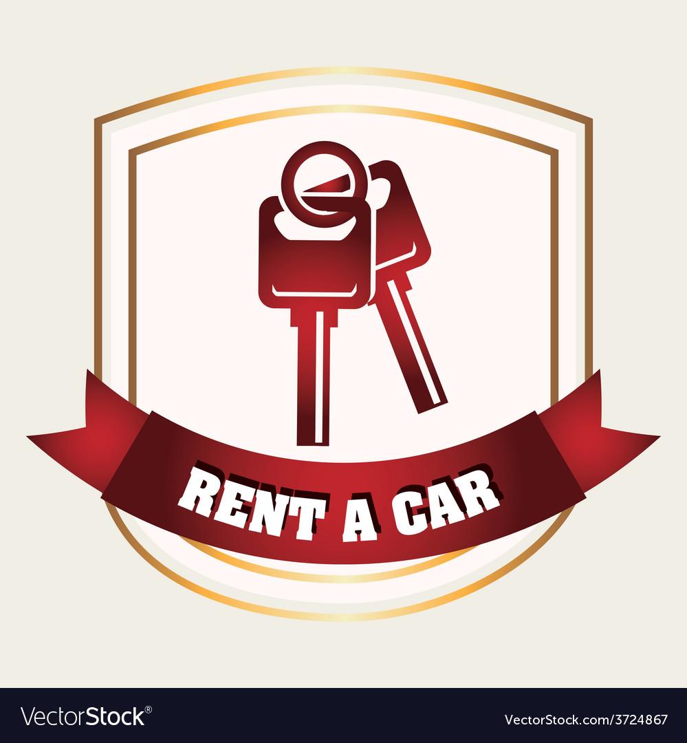 Rent a car vector | Price: 1 Credit (USD $1)