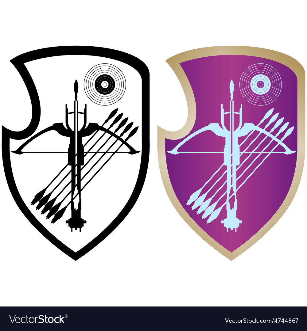 Shield crossbow and arrows-4 vector   Price: 1 Credit (USD $1)