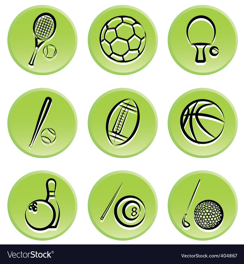 Sport items icon vector | Price: 1 Credit (USD $1)
