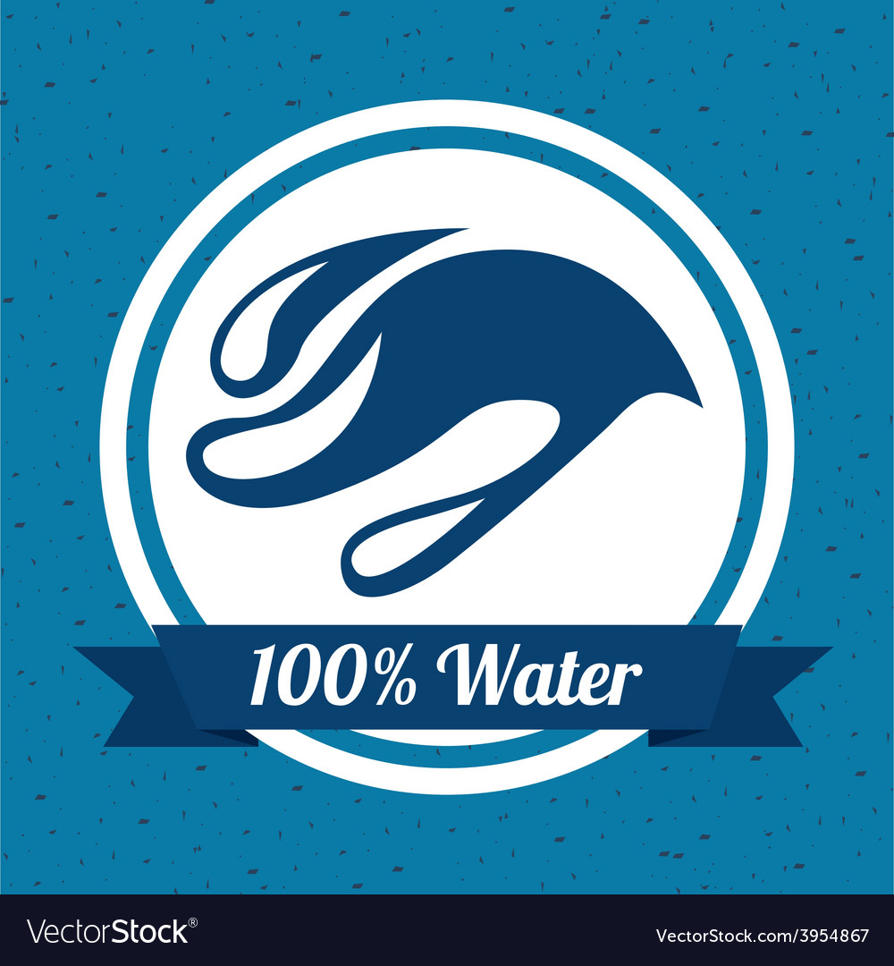 Water label vector | Price: 1 Credit (USD $1)