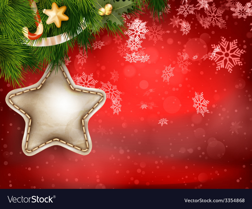 Christmas decoration with fir branches eps 10 vector   Price: 3 Credit (USD $3)