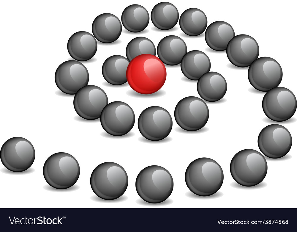 Conceptual - a red sphere in the vector | Price: 1 Credit (USD $1)
