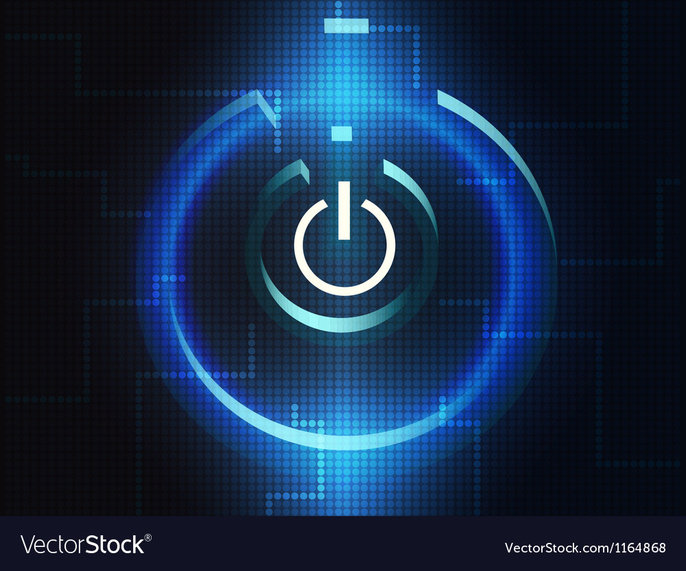 Digital turn on symbol vector | Price: 1 Credit (USD $1)