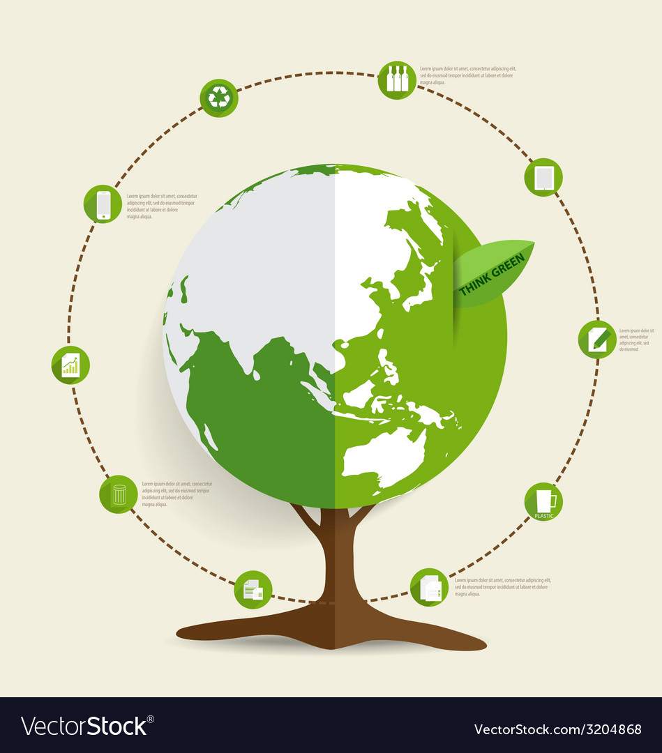 Ecology infographics design elements vector | Price: 1 Credit (USD $1)