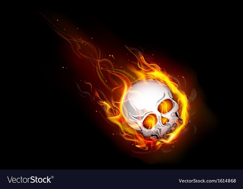 Fiery skull vector | Price: 1 Credit (USD $1)