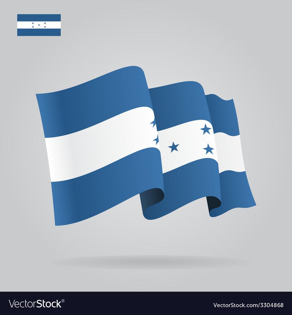 Flat and waving honduras flag vector | Price: 1 Credit (USD $1)