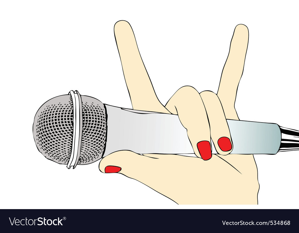 Microphone rock vector | Price: 1 Credit (USD $1)