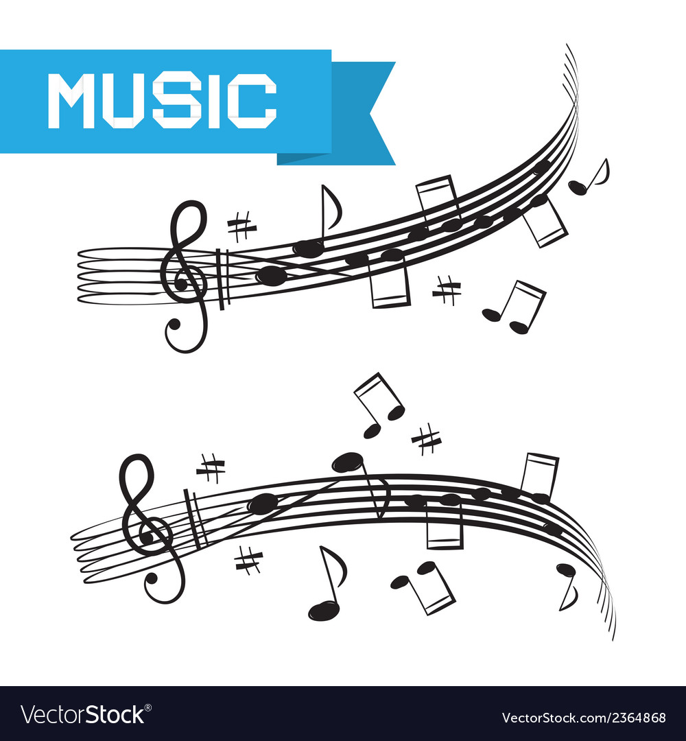 Music - staff and notes vector | Price: 1 Credit (USD $1)