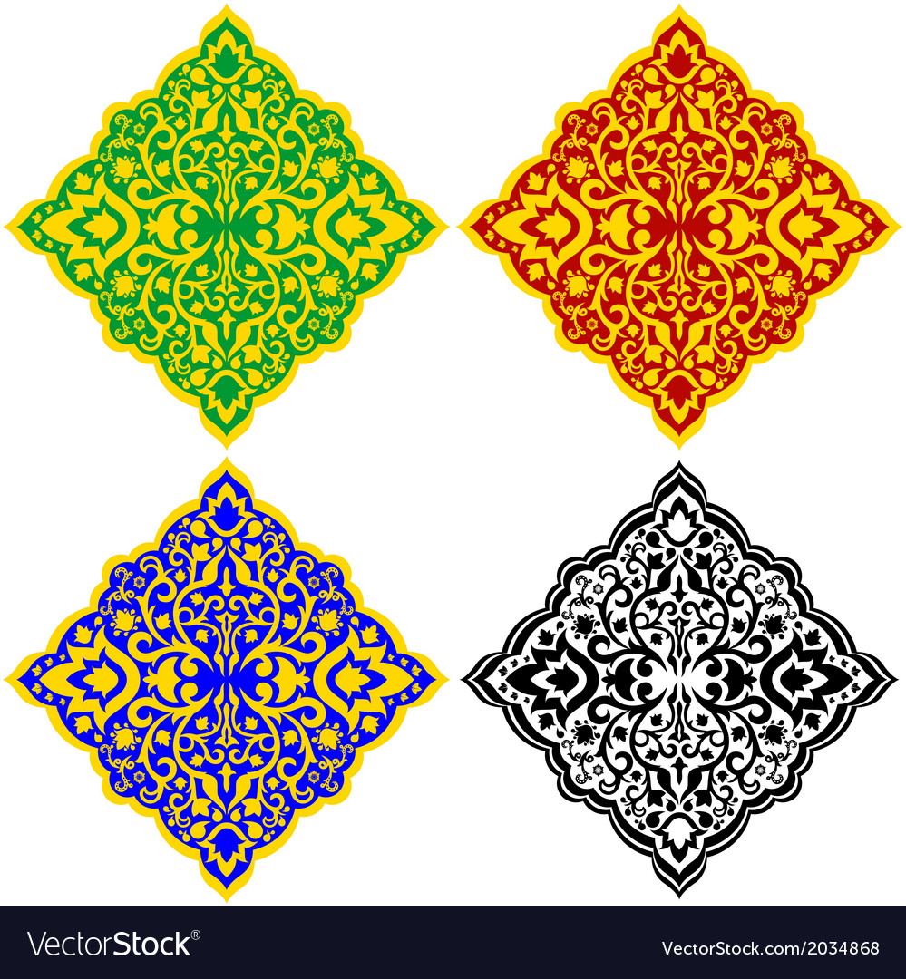 Oriental patterns-1 vector | Price: 1 Credit (USD $1)