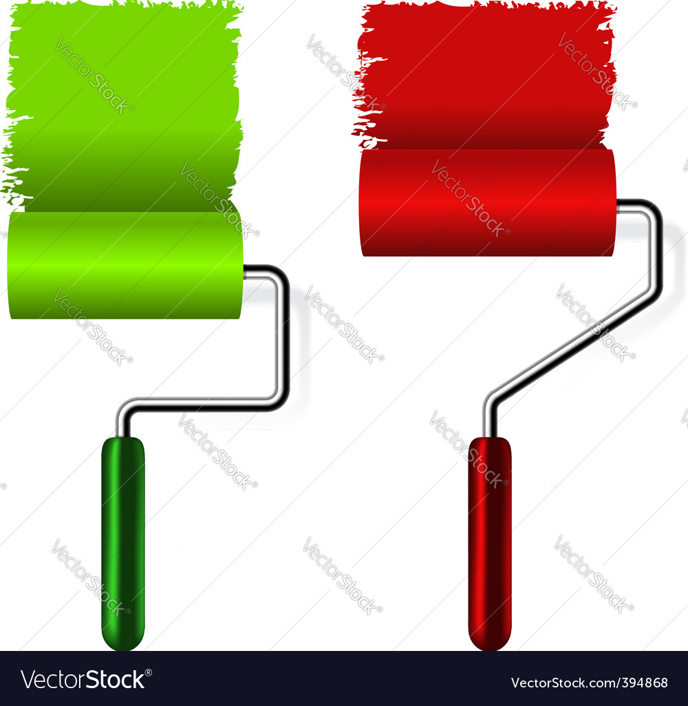 Paint roller brush vector | Price: 1 Credit (USD $1)