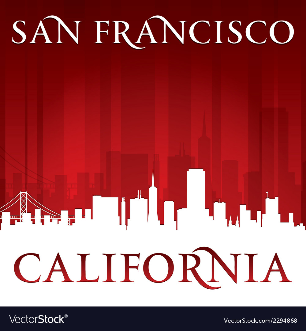 San francisco california city skyline silhouette vector | Price: 1 Credit (USD $1)