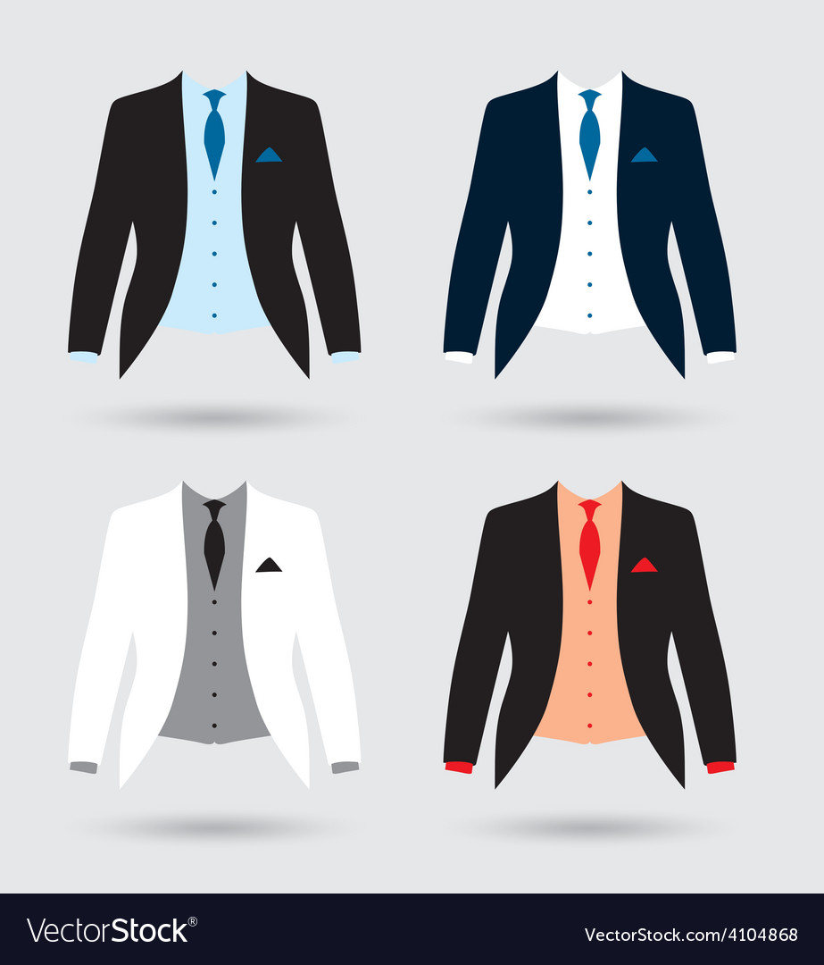 Suits set vector | Price: 1 Credit (USD $1)