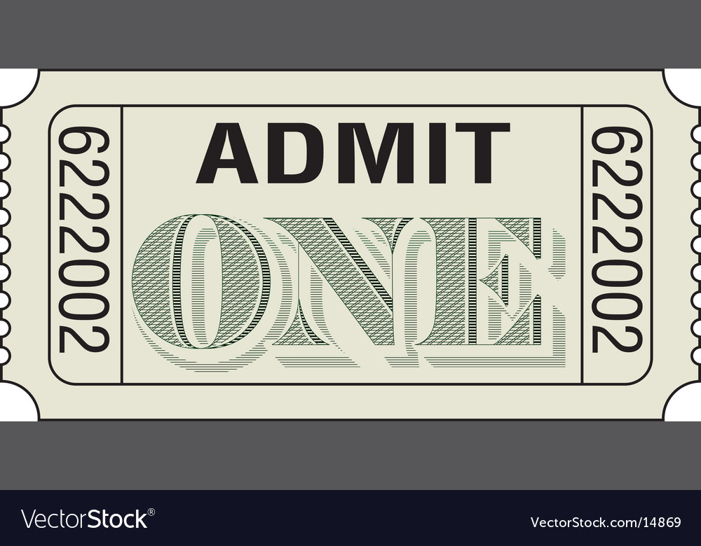 Admit-one-dollar vector | Price: 1 Credit (USD $1)