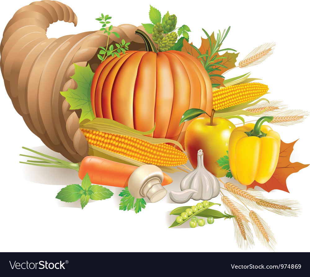 Cornucopia vector | Price: 5 Credit (USD $5)