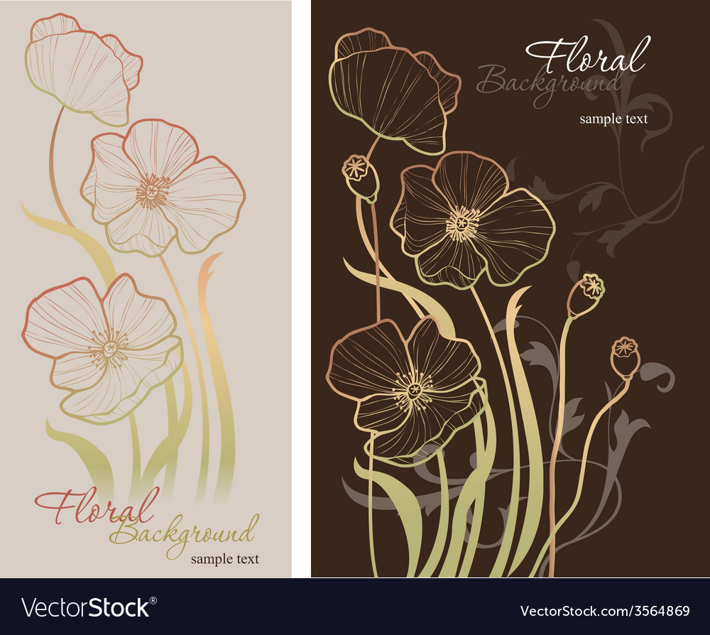 Elegance seamless pattern with poppy vector   Price: 1 Credit (USD $1)