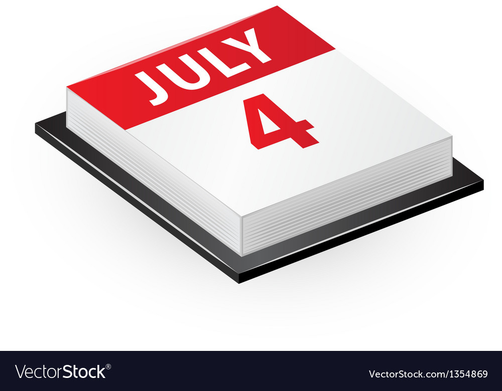 Four july calendar icon vector | Price: 1 Credit (USD $1)