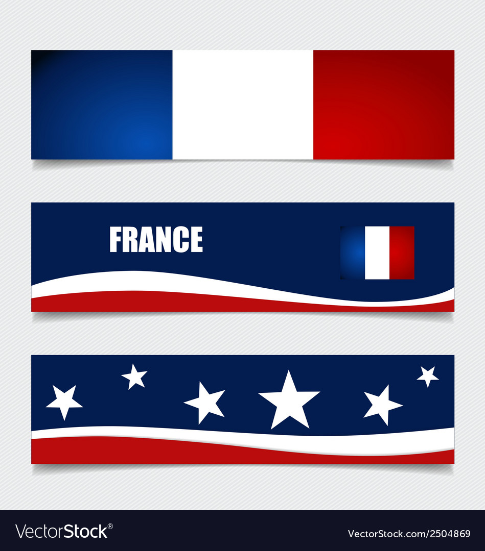 France flags concept design vector | Price: 1 Credit (USD $1)
