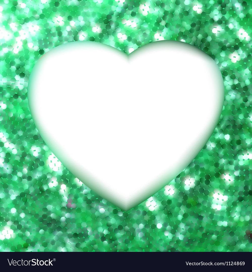 Green frame in the shape of heart eps 8 vector | Price: 1 Credit (USD $1)