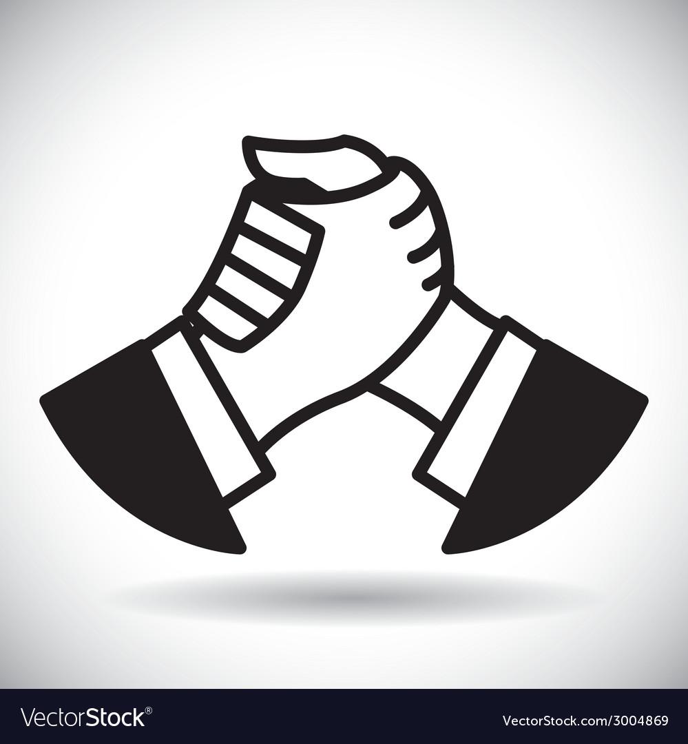 Handshake vector | Price: 1 Credit (USD $1)