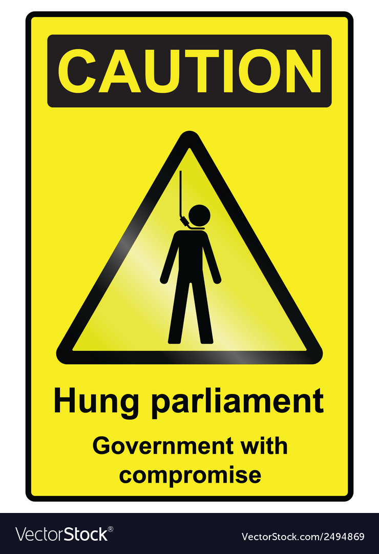 Hung parliament hazard sign vector | Price: 1 Credit (USD $1)