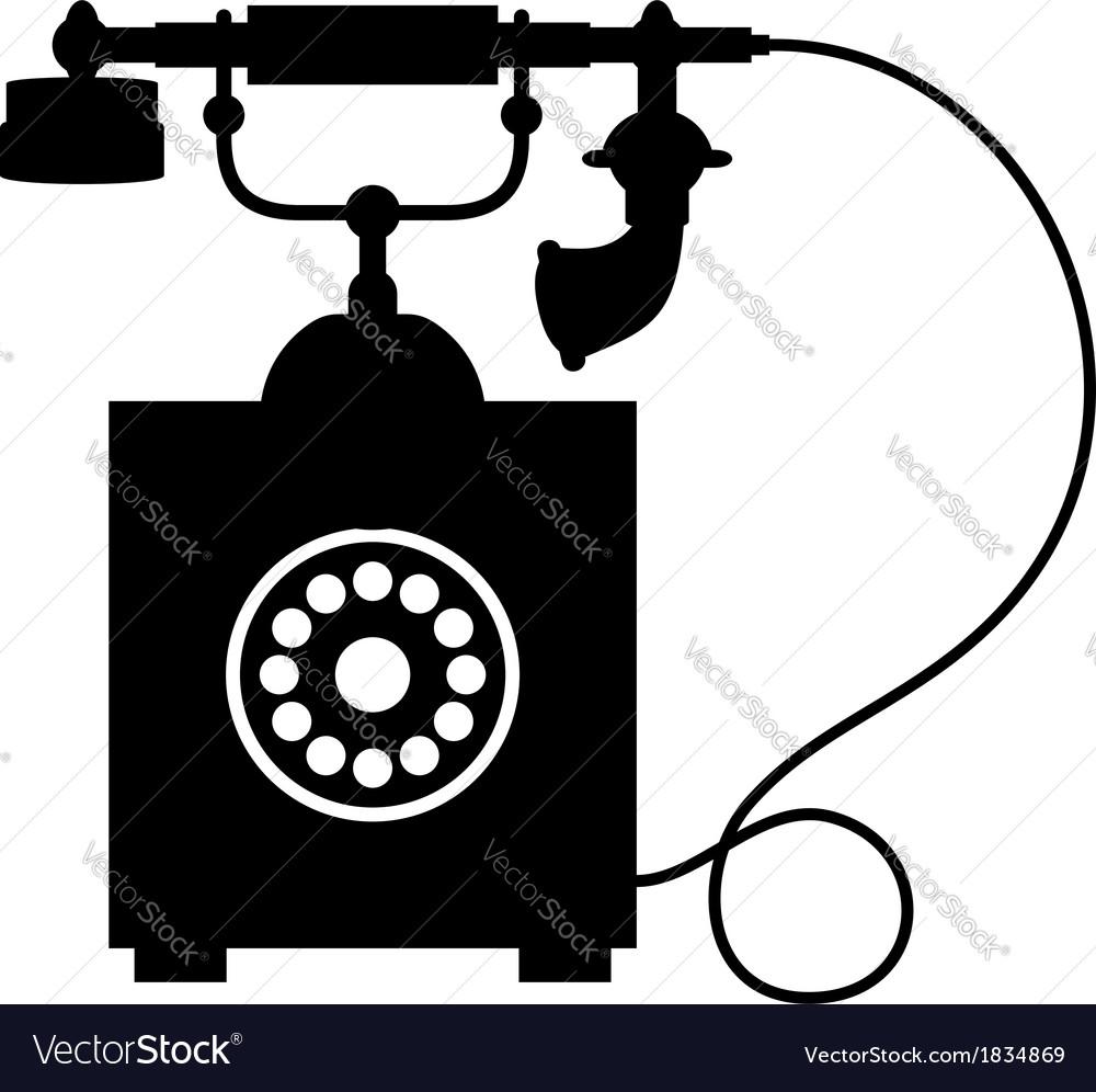 Old vintage telephone vector | Price: 1 Credit (USD $1)