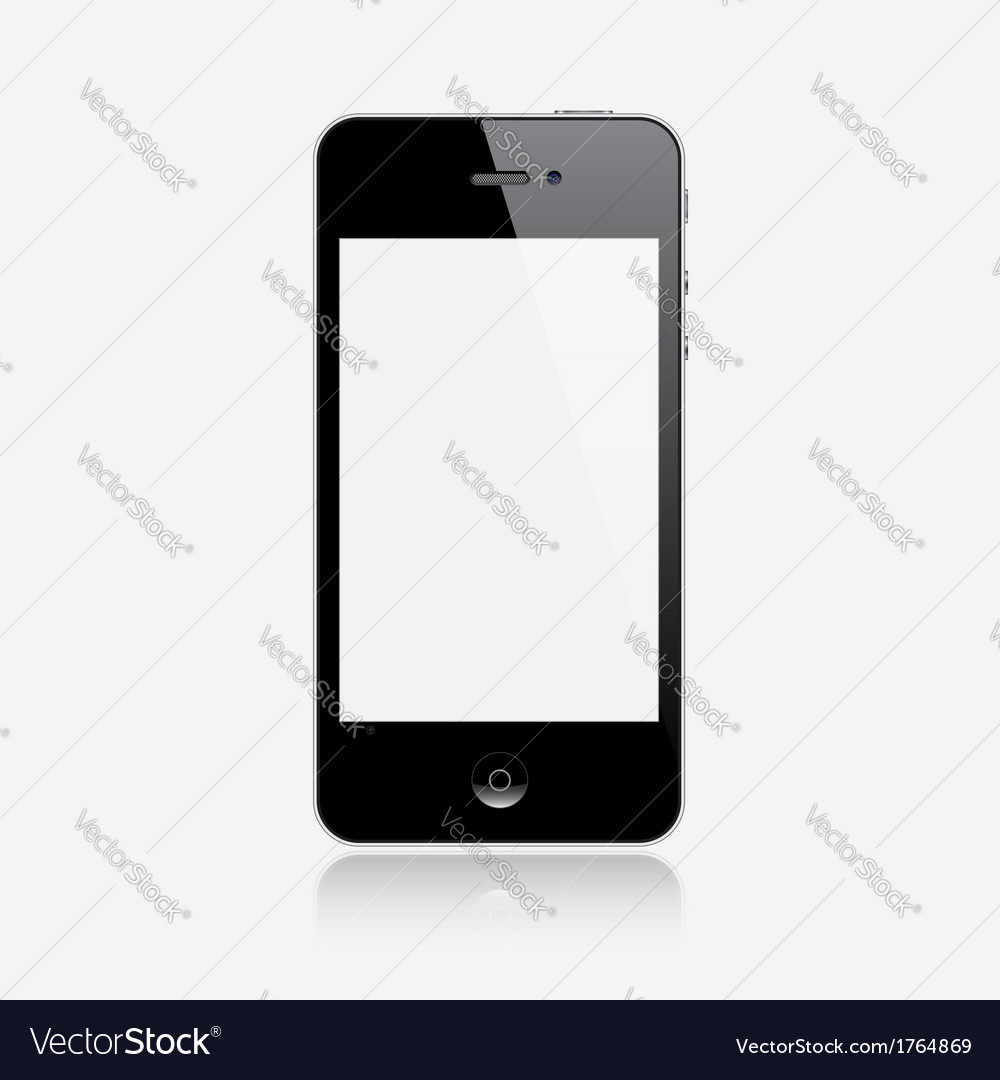 Realistic smartphone vector | Price: 1 Credit (USD $1)
