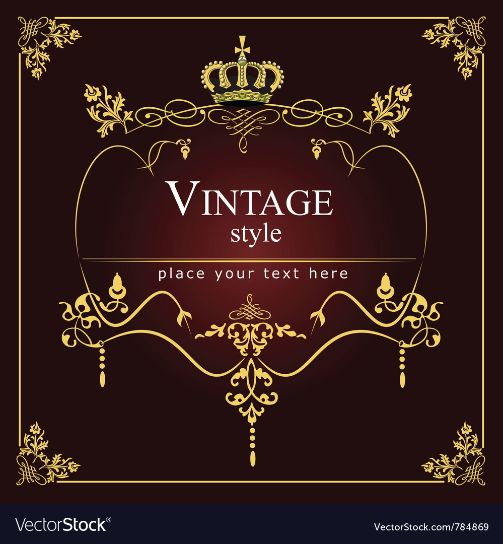Vintage style vector | Price: 1 Credit (USD $1)