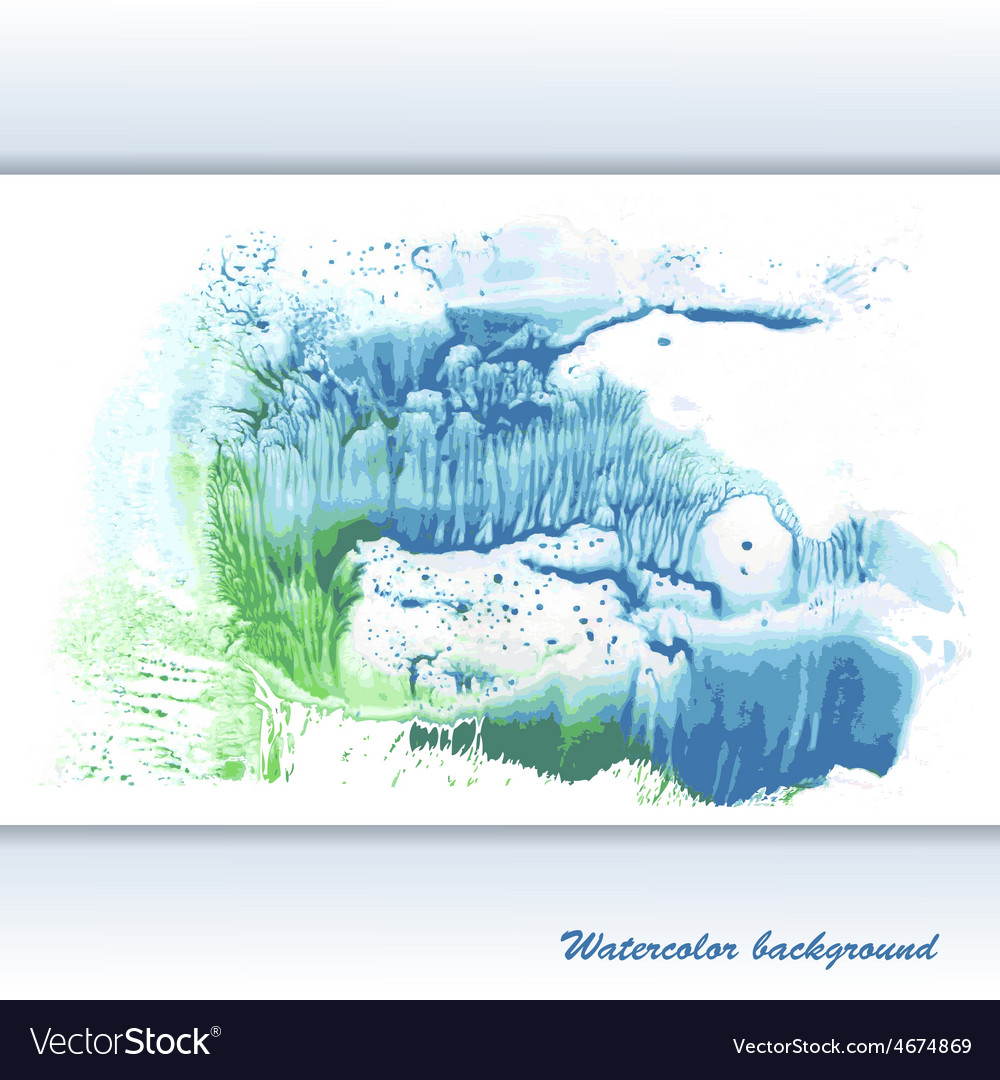 Watercolor modern abstract background vector | Price: 1 Credit (USD $1)