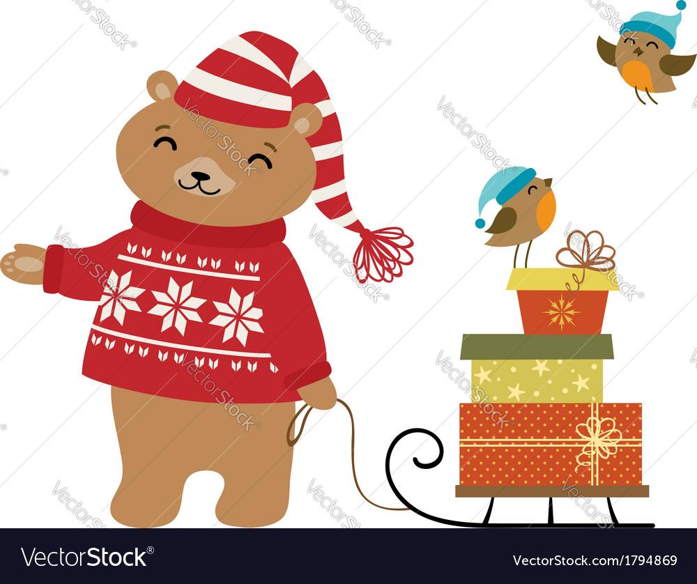 Winter presents vector | Price: 1 Credit (USD $1)